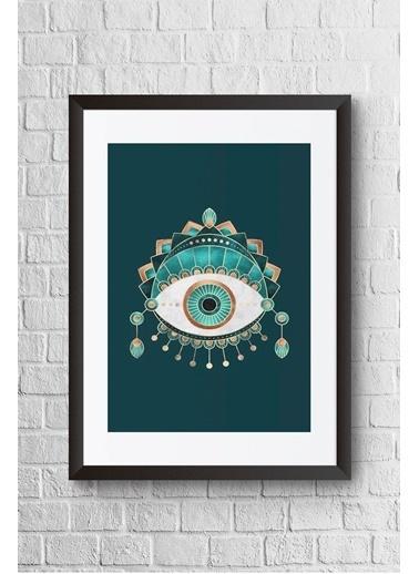 Lyn Home & Decor Yeşil Göz Çerçeveli Poster Tablo 23.5X33,5 Siyah